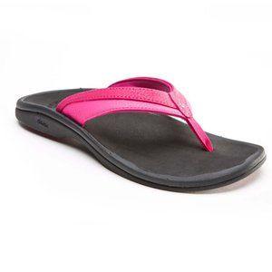 Olukai 'Obana' Black pink comfort sandals